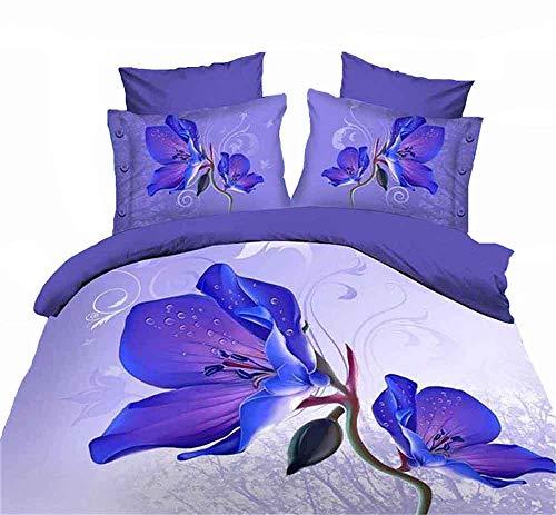 ZQYY 3D Bettbezug, Aktiver Druck Weich und Bequem Bettwäsche-Set von 4, Bettbezug:200 * 230cm*1, Kissenbezüge48*74cm*1, Blätter:250 * 250cm*1 (Doppel)