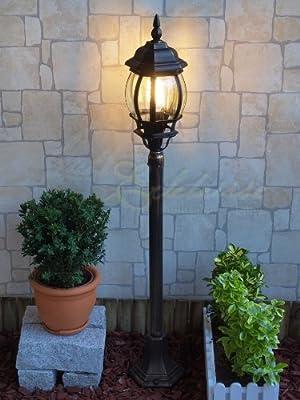 Traditionelle Laterne Aluguss Garten/Schutzklasse IP23 LE9006bg Golden Brown von Licht-Erlebnisse bei Lampenhans.de