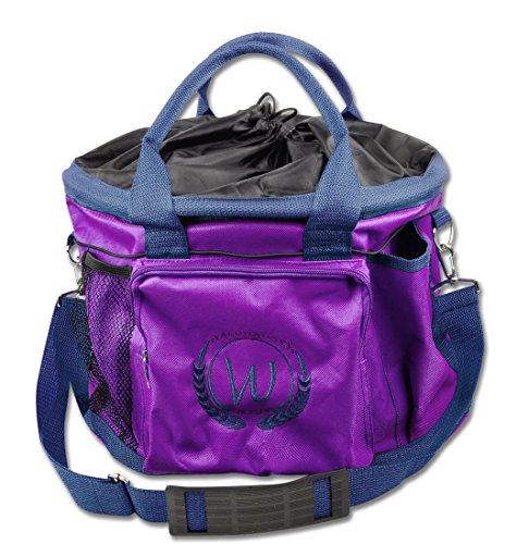 Putztasche lila Pferdeputztasche Putzbeutel mit Trageriemen