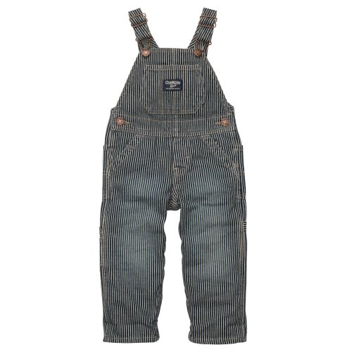OSHKOSH Kinder Overall, Latzhose (blau-weiss gestreift) Hickory/mechanic - Gr. 86-92 (US 2T)