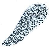 Flügel Magnet Brosche mit Strass Ponchohalter Schalhalter Wing