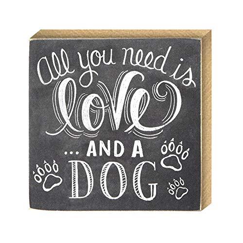 Fjiujin,Gedruckte Version Liebe Kreative Hund Haustier DIY Startseite Europäischen Dekorative Ornamente (1 Outfit)(Color:Holz)