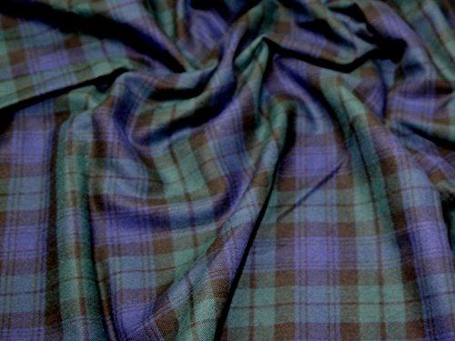 Tartan gebürstete Baumwolle Kleid Stoff Blackwatch–Meterware
