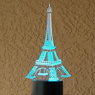 Alisable Optical Illusion 3D Dice Lighting,3D Eifel Tower LED Lamp - Produces Unique Lighting Effects and 3D visualization - Amazing Optical Illusion