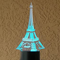 Optical Illusion 3D Eifel Tower Lighting by Playtime 123 is a Great Nightlight with a Soft Subtle Glow for Kids. These Eco-friendly Laser Cut Precision LED Lights Make Beautiful Gifts for Mom and Amazing Desk Lamps for Dad. Start Enjoying your very own Multicolored USB Powered Light Today