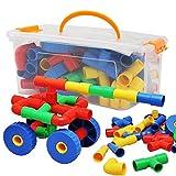 Bau Taschen, Bausteine, Kinder Buchstaben, alphanumerische, Brick Toy Collection (Color : 64)