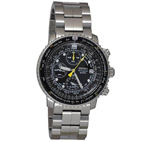 Seiko Sna411p1pour Homme Pilot Montre Alarme chronographe 100m WR Sna411
