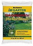 Unkrautvernichter mit Rasendünger 12 kg Beckmann im Garten