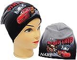 Unbekannt Mütze / Jerseymütze -  Disney Cars - Lightning McQueen  - Größe 51 / 53 - Circa 5 bis 8 Jahre - Beanie - UV Protection - universal - für Jungen - Kinder - M..