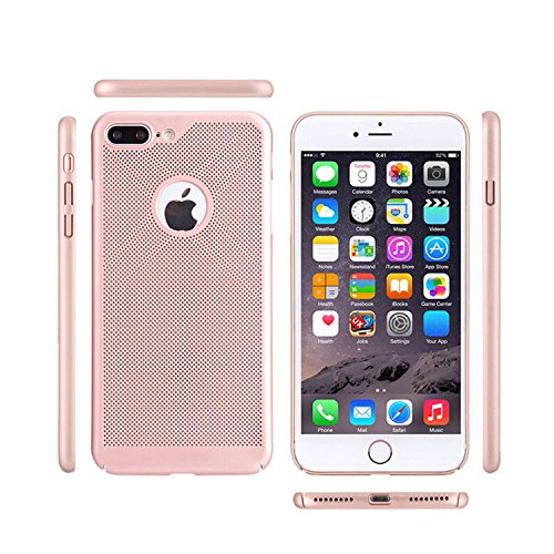 "MOONCASE iPhone 7 Plus/iPhone 8 Plus Hülle, Rugged PC Rüstung Wärmeableitung Handyhülle Ultra Thin Fallschutz Anti-Scratch Schutztasche Case für iPhone 8 Plus 5.5"" Rose Gold Golden"