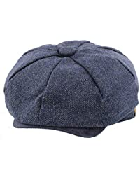 1d538e3078c The Hat Company  Elijah  Blue Herringbone Bakerboy Newsboy Cap