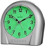 Acctim Sweeper - Reloj despertador analógico (luz y función de repetición), color plata