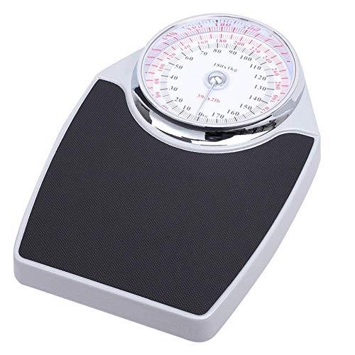 Yslin Digital Body Weight Slim Design with Extragroße analoge mechanische Skalen-Präzisionswaage, Präzisions-Personenwaage, Edelstahlplatte, Messgewicht bis 180 kg High-Precision Safety Glass