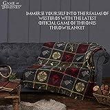 Game of Thrones Gifts Merchandise GOT Blanket Super Soft Luxury Bed Throw Stark Lannister Targaryen Greyjoy Baratheon Tyrell Great House Symbols Westeros