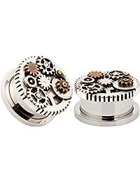 96dc26738b KUBOOZ Design Gear Wheel Acciaio Inossidabile Ear Flesh Studs Plugs e  Tunnels Piercing Jewelry Screw Diametro