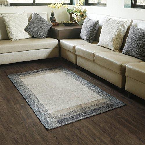 Store indya, tappeti indiani 100% in cotone con indumento per negozio, con design contemporaneo per cucina, soggiorno, camera den, ingresso, lavanderia e camera da letto (88 x 152) cm