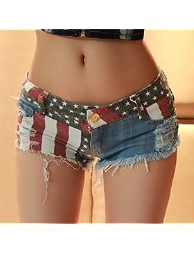 YYJZJW Lady Shorts Ms. Shorts Short Skirt Super Shorts Mujer Slim Thin Joker Pantalones Hole Cowboy Beach Hot...