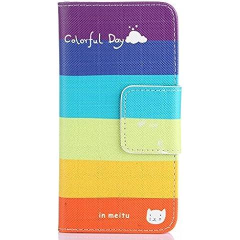 Samsung Galaxy S7562 Hülle, COLJOY PU Leder Tasche Flip Case Cover Schutzhülle Etui Hülle Schale für Samsung Galaxy S Duos GT-S7562,