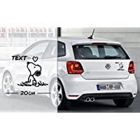 Snoopy in Love mit Text oder Name | Auto Aufkleber | coole Aufkleber | lustige | Wunschtext
