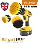 Smart Pro Deluxe drill Brush & scrubber set, per pneumatico auto stucco, battiscopa, bagno e pulizia multiuso trapano a batteria non inclusa)