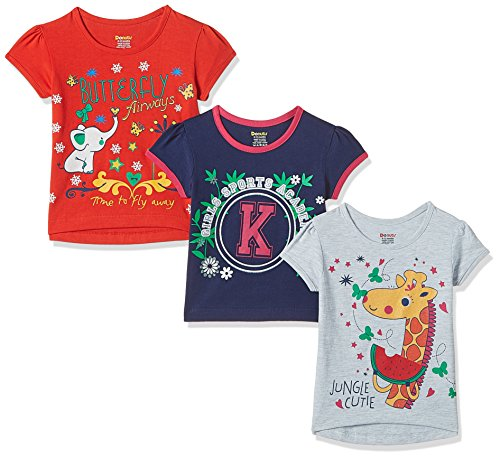 Donuts Baby Girls' T-Shirt (Pack of 3) (272516705_Assorted_18M)
