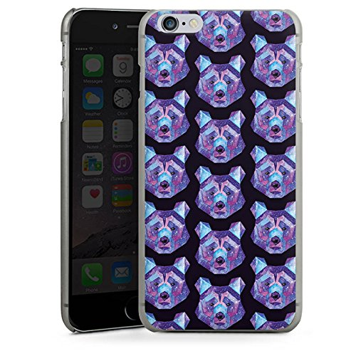 Apple iPhone X Silikon Hülle Case Schutzhülle Bär Weltall Muster Hard Case anthrazit-klar