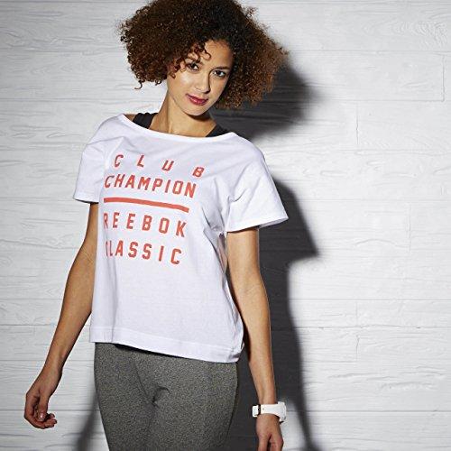 Reebok Classic F Court GR TEE T-Shirt Enfant Blanco (Blanco)