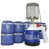 Campinglampe Gaslampe Lampe Piezo Licht Camping + 10 Gas-Kartusche