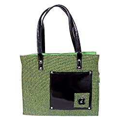 Womaniya Handicraft Jute Canvas Handbag for Women Girls Men Boys