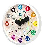 Twistiti - Orologio da parete Pedagogica Silenziosa Con Numeri Colorati