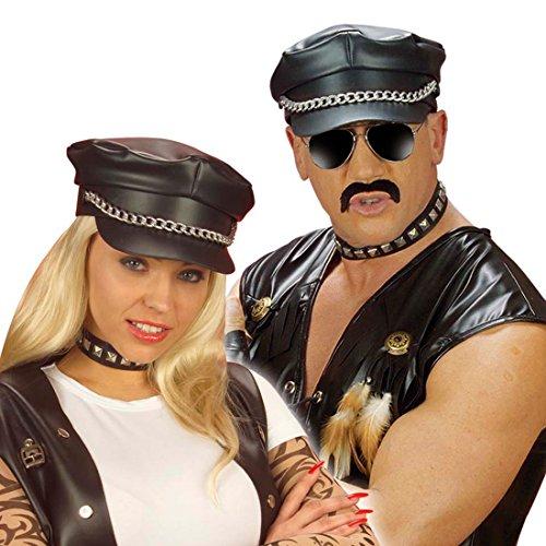 Hunde Für Biker Kostüm - NET TOYS Biker Stachel Halsband Rocker Punker Stachelhalsband Nieten Nietenhalsband Kunstleder Kostüm Zubehör Fasnacht Fasching