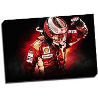 Race Driver F1 Ferrari-Poster, stampa artistica su tela, 76,20 cm (30