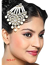 Rich Lady Classic Designer Pasa Pearl Kundan Work With Gold Finishing In White