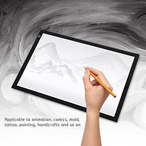 GOTOTOP USB A2/A3/A4 LED Grafiktablett Touchpad Animation Bleistift Skizze Lightbox (A2)