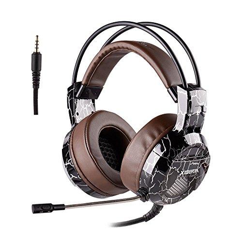 Gaming Headset PS4, XIBERIA E1 Stereo Sound PC Kopfhörer, Über-Ohr Gaming Headset mit Mikrofon mit Kristallklarem Klang, Weicher Speicher-Ohrenschützer für New Xbox one,PS4,PC,Laptop,Mac,Nintendo Switch