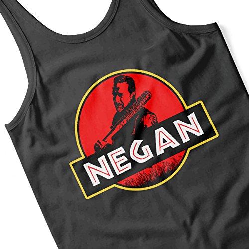 Jurassic Negan Walking Dead Park Men's Vest Black