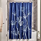 InterDesign Thistle Fabric Shower Curtain - 183 x 183 cm, Navy/Slate - Best Reviews Guide