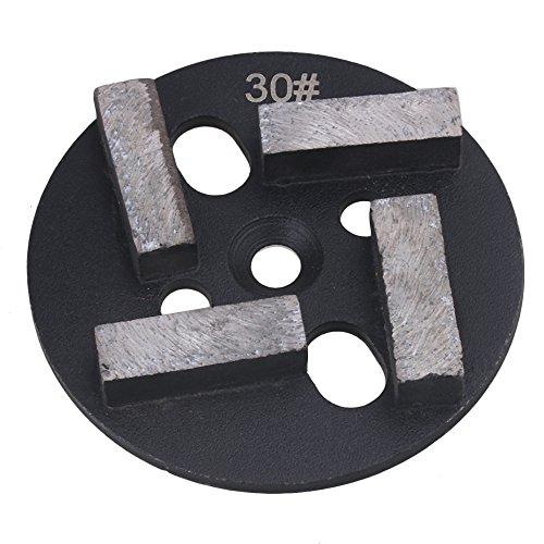Yibuy Typ B Diamant Beton Schleifen Pad Schaber Grit 30Silber Schwarz 10,2cm (Beton Schleifen Boden)