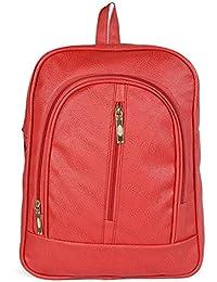 Fargo PU Women's Backpack Handbag (Red_FLFG-07)