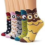 Moliker ragazze calzini di cotone morbido sudare-assorbenti 5 multi-coppie Designs (4001)