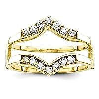 IceCarats 14k Yellow Gold Diamond Guard