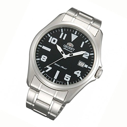 ORIENT MEN'S 41MM STEEL BRACELET & CASE AUTOMATIC BLACK DIAL WATCH FER2D006B0