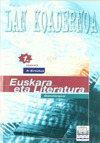 Portada del libro Euskara eta literatura DBHO1 A