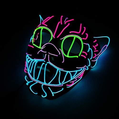 LWR Halloween Führte Maske, Neue Art Nette Lustige Maske Elvis Kostüm Maske Glühende Rollenspiel