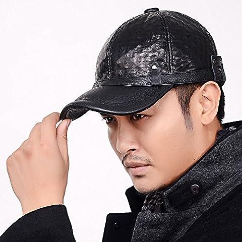 ZYONG*Il rivetto di uomini vera pelle cappello