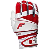 Franklin Sports 20863F5 Adult Free Flex Pro Series Batting Gloves, White/Red, X-Large