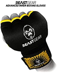 Beast Gear Advanced Inner Boxing Gloves Gel Mitts for Combat Sports, MMA and Martial Arts