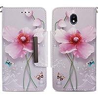 Handyhülle Samsung Galaxy J7 2017,HUDDU Blumen Schmetterling Muster Pink Schutzhülle Samsung J7 Pro 2017 Hülle... preisvergleich bei billige-tabletten.eu