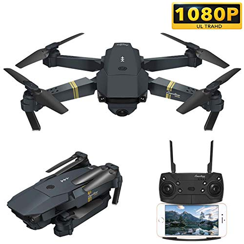 Qnlly 30 Minuten Lange Flugzeit, FPV-Drohne mit Kamera 1080P HD WiFi Live-Video RC Quadrocopter, Höhenlage halten, Schwerkraftsensor-Funktion Hubschrauber für Anfänger Erwachsene