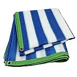 Awnings Markisen xiaoyan 85% Sun Shade UV-Block für Garten Outdoor Werk und Aktivitäten angepasst, blau, 1×5M